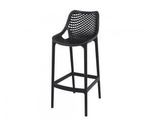 Бар стол Еър, полипропилен - черен