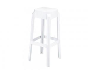 Бар стол Фокс, поликарбонат - бял