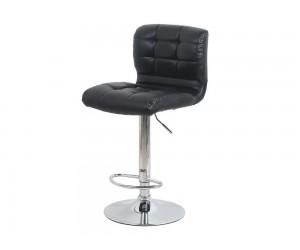 Бар стол Калипсо 15, въртящ - еко кожа черен