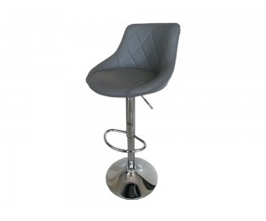 Бар стол Калипсо 16, въртящ - еко кожа сив