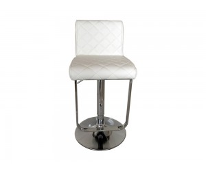 Бар стол Калипсо 17, въртящ - еко кожа бял