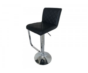 Бар стол Калипсо 17, въртящ - еко кожа черен