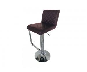 Бар стол Калипсо 17, въртящ - еко кожа кафяв
