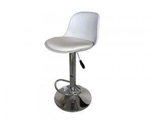 Бар стол Калипсо-18, въртящ - еко кожа бял