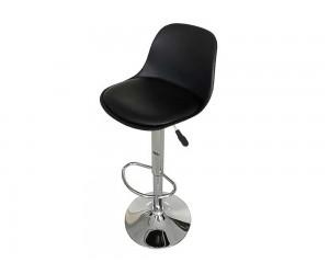 Бар стол Калипсо-18, въртящ - еко кожа черен