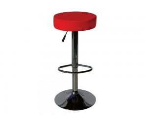 Бар стол Калипсо-3, въртящ - еко кожа червен