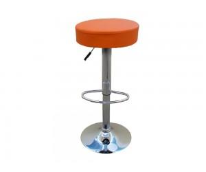 Бар стол Калипсо-3, въртящ - еко кожа оранжев