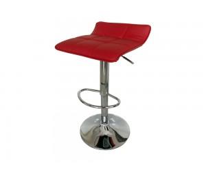 Бар стол Калипсо-5, въртящ - еко кожа червен