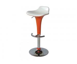 Бар стол Калипсо-6, въртящ - бяла седалка / оранж