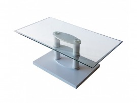 Стъклена холна маса MDF D-671- бяла