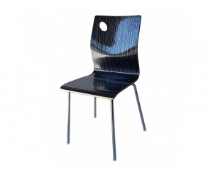 Трапезен стол 8119А - черно райе