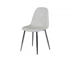 Тапициран трапезен стол AM-A-293, еко кожа - бежов