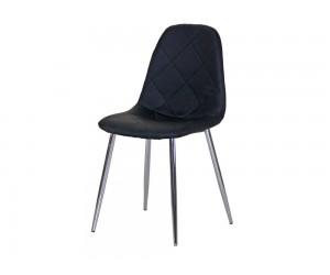 Тапициран трапезен стол AM-A-293, еко кожа - черен