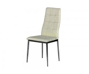 Тапициран трапезен стол AM-A-310, еко кожа - бежов