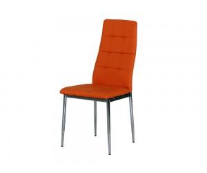 Тапициран трапезен стол AM-A-310, еко кожа - оранжев