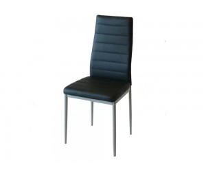 Тапициран трапезен стол АМ-С170, еко кожа - черен