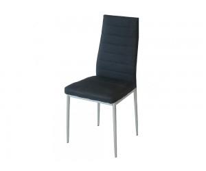 Тапициран трапезен стол АМ-С170B - черен