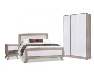 Спален комплект Karla HM10291 - от 3 части в Сонома/ Бяло
