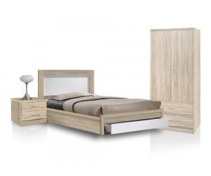 Спален комплект HM11118.02 - от 3 части в Сонома/ Бяло