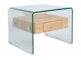 Стъклена холна маса HM8089 с чекмедже