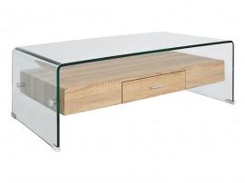 Стъклена холна маса HM8090 с чекмедже