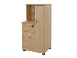 Офис шкаф HM2052.01R с гардеробче - Дъб