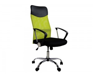 Офис стол HM1000.03 с подлакътници и газов амортисьор - Черен/ Електроково зелен