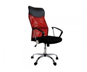 Офис стол HM1000.07 с подлакътници и газов амортисьор - Черен/ Червен