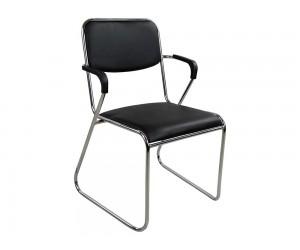 Кожен офис стол с подлакътници HM1020.01 - Черен