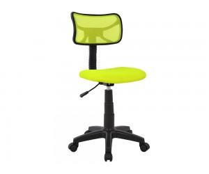 Детски стол HM1026.03 с колелца и газов амортисьор - Черен/ Електриково зелен