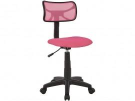 Детски стол HM1026.05 с колелца и газов амортисьор - Черен/ Розов