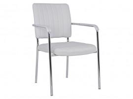Комплект от 4 бр. офис столове с меки подлакътници HM1070.02 - Бял