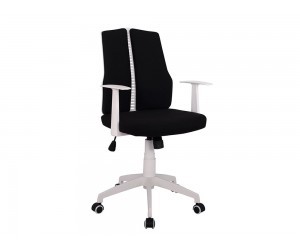Офис стол HM1131.01 с подлакътници и газов амортисьор - Черен/ Бял