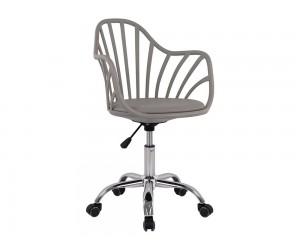 Офис стол Becky HM8457.10 - Полипропилен с възглавничка в сиво