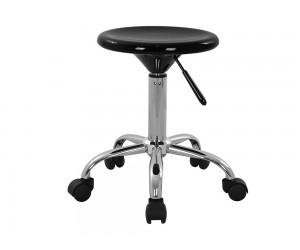 Комплект 2 бр кръгли офис табуретки Anny HM207 с ABS седалка и газов амортисьор