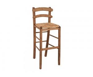 Дървен бар стол HM10372.01 - в гръцки традиционен стил