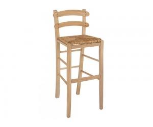 Дървен бар стол HM10372.02 - в гръцки традиционен стил
