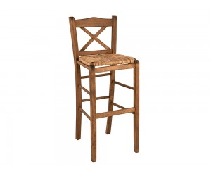 Дървен бар стол HM10375.01 - в гръцки традиционен стил