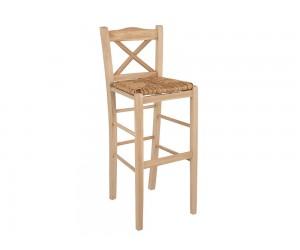 Дървен бар стол HM10375.02 - в гръцки традиционен стил