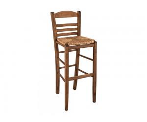 Дървен бар стол HM10377.01 - в гръцки традиционен стил