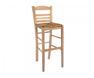 Дървен бар стол HM10377.02 - в гръцки традиционен стил
