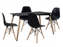 Комплект маса и четири стола Tonia HM10225 - Черен