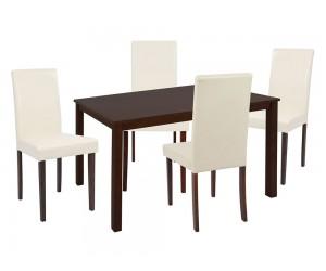 Комплект маса с четири стола Selene HM10256 - Орех/Крем