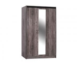 Гардероб Jacintha HM2275 - с три врати и огледало - Пепеляво сив