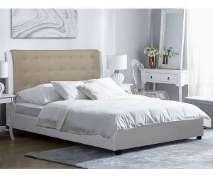 Тапицирано легло Vanity HM536 - 150/200 см. Бяло/Мока