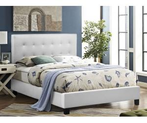 Тапицирано легло Brisa HM552.01 - 150/200 см. Бяло
