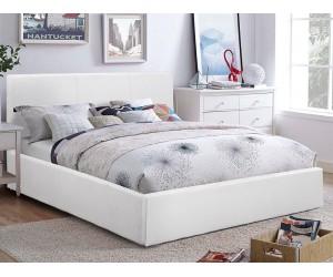 Тапицирано легло Bobbi HM554.01 - 150/200 см. Бяло