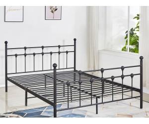 Метално легло HM575.01 - 150/200 см. Черно