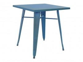Трапезна маса HM0607.88 - 70/70/76 см. Синя състарена
