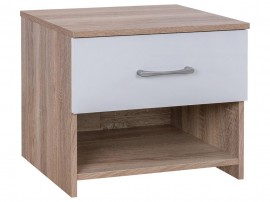 Нощно шкафче Lane HM2335 - Бял/Сонома